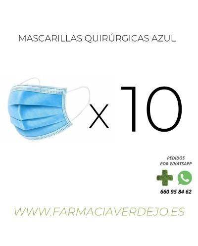 MASCARILLA QUIRURGICA  10...